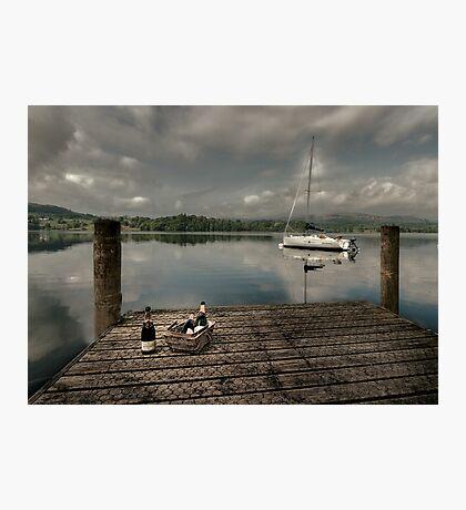 Champagne Yacht Photographic Print
