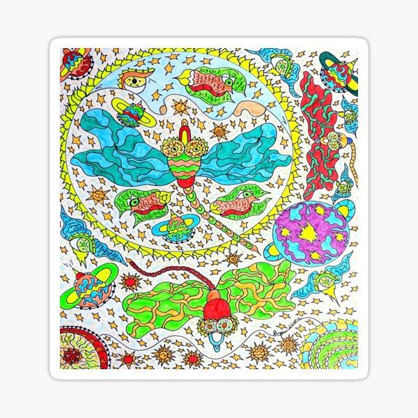 cosmic dragonflies Sticker