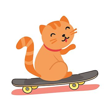 Cat Skateboarding Skater Funny Gifts by miracletee