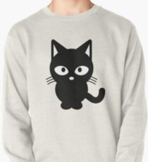 moderne schwarze Katze Pullover