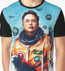 Astronaut Elon Musk Graphic T-Shirt