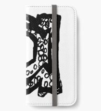 Lower case black and white Alphabet letter a  iPhone Wallet/Case/Skin