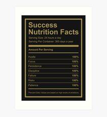 Success Nutrition Facts  Art Print