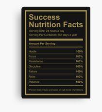 Success Nutrition Facts  Canvas Print
