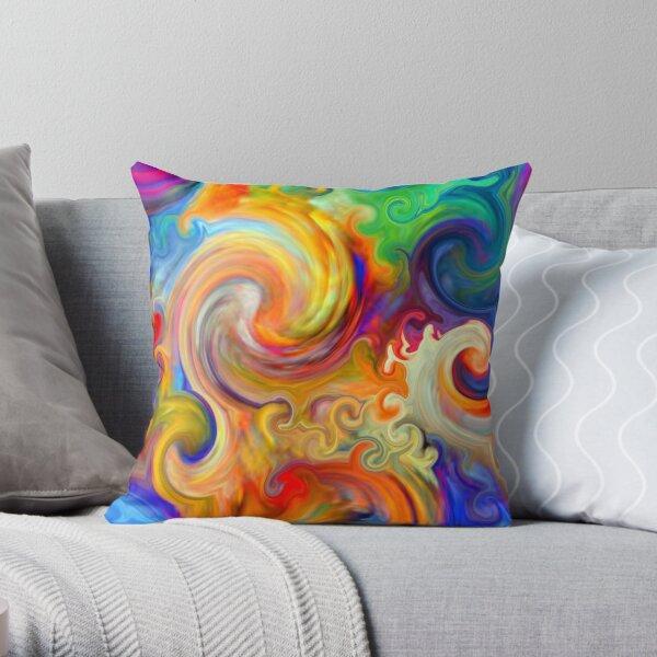 Mexican Ocean Wave Throw Pillow