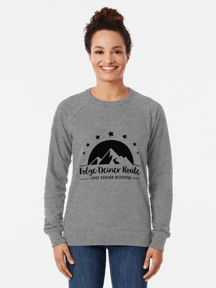 Alternate view of Hiking - Follow your route Lightweight Sweatshirt