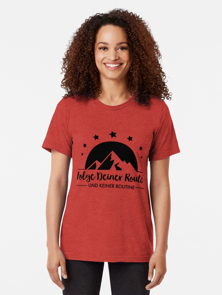 Alternate view of Hiking - Follow your route Tri-blend T-Shirt