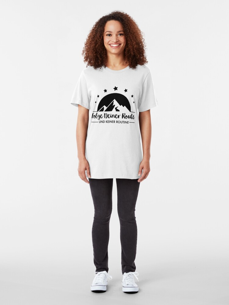 Alternate view of Hiking - Follow your route Slim Fit T-Shirt