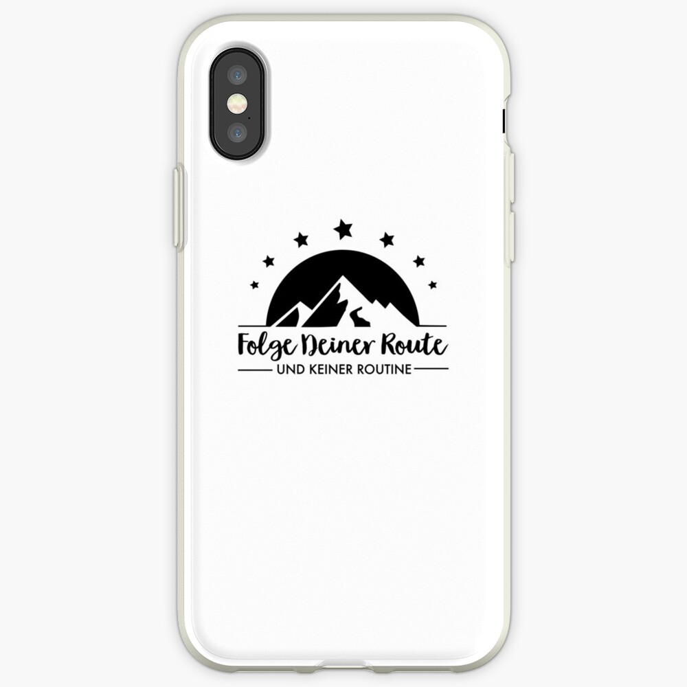 Hiking - Follow your route iPhone Case & Cover