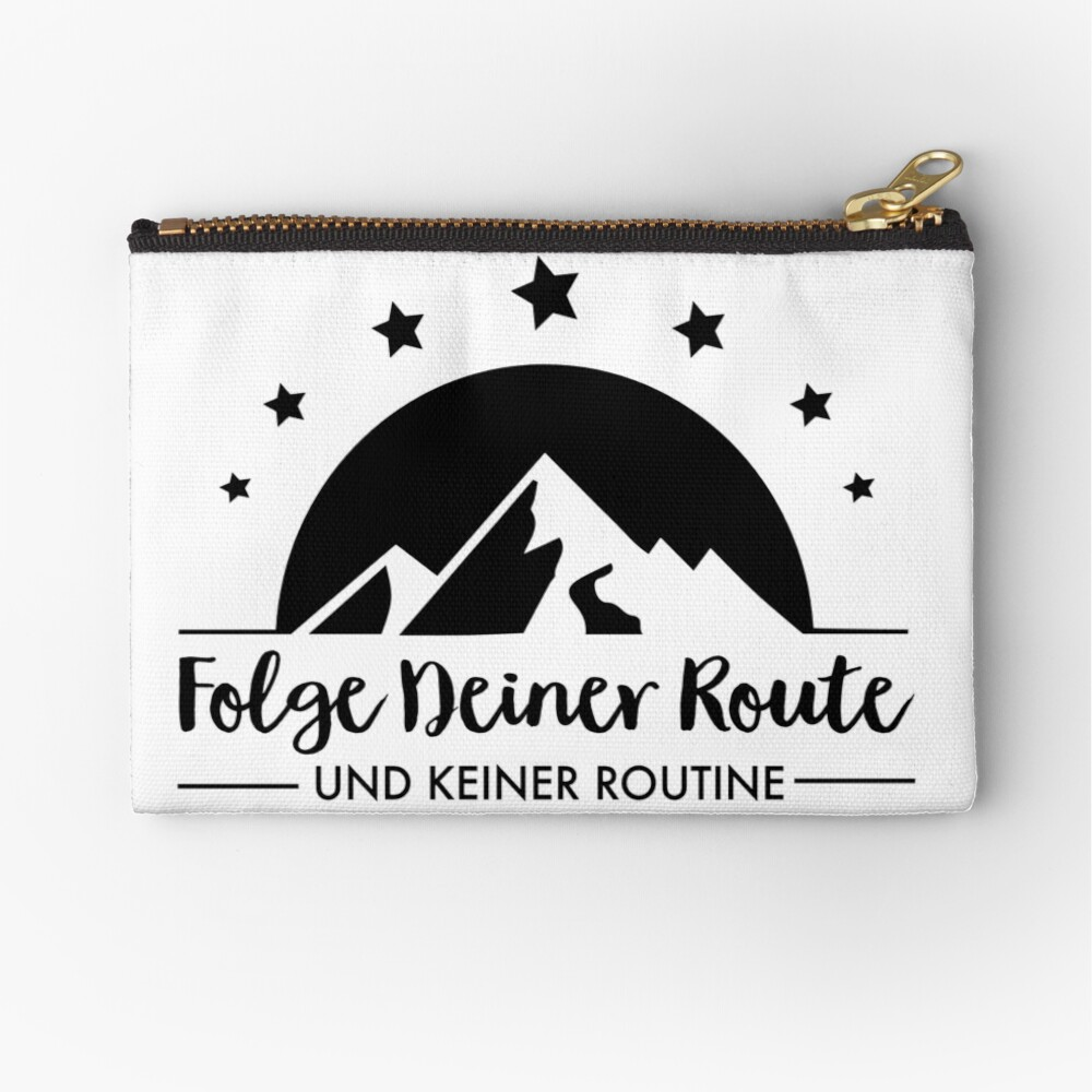 Hiking - Follow your route Zipper Pouch