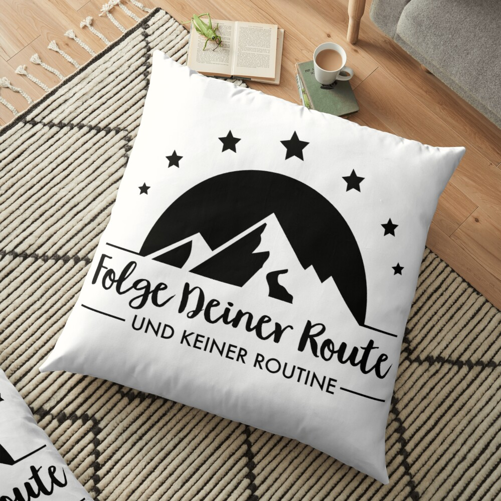 Hiking - Follow your route Floor Pillow