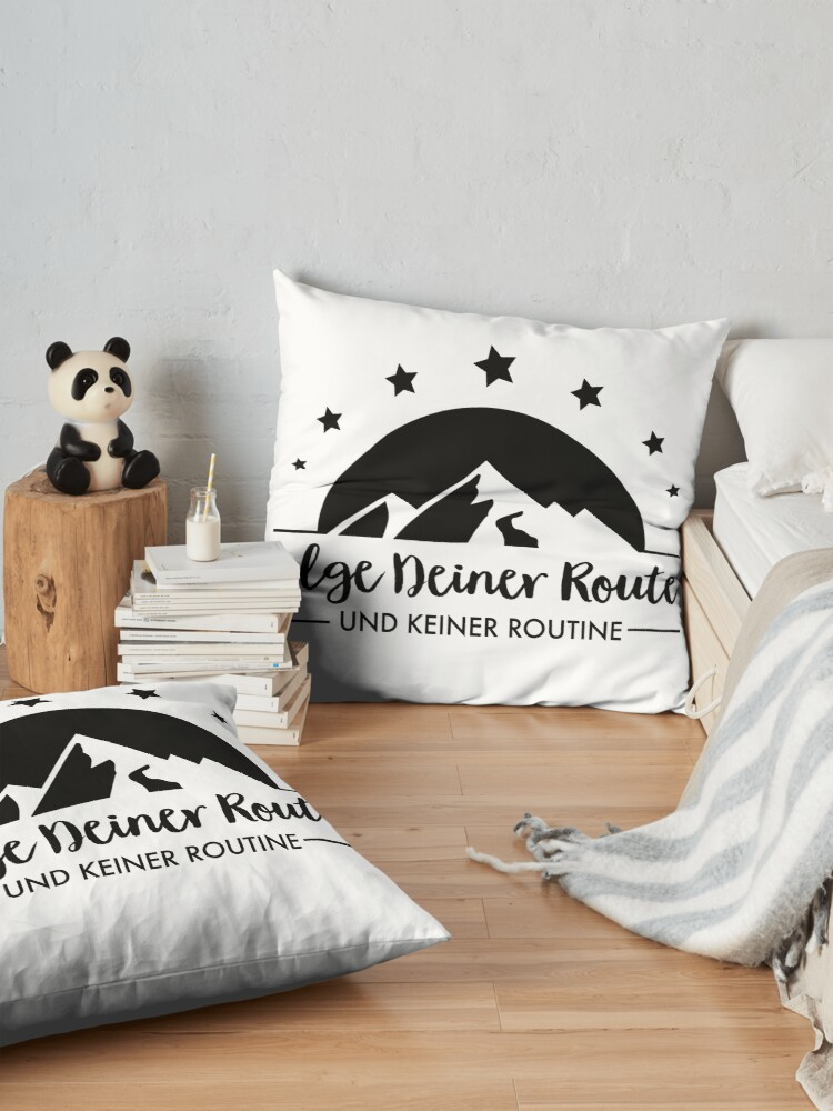Alternate view of Hiking - Follow your route Floor Pillow