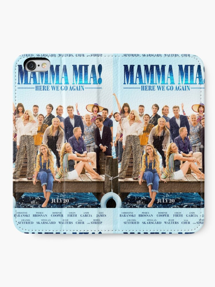 Vista alternativa de Fundas tarjetero para iPhone Mamma Mia - ¡Aquí vamos otra vez!