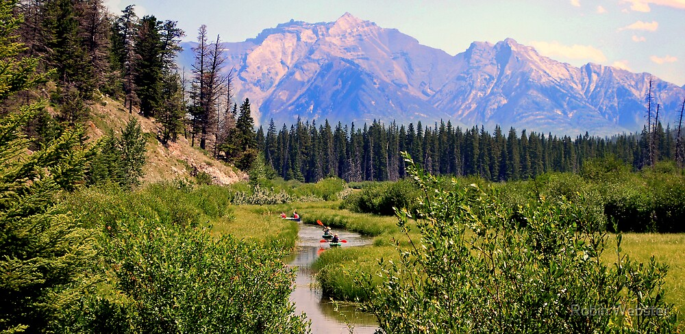 Canoeing in the Rockies by Robin Webster