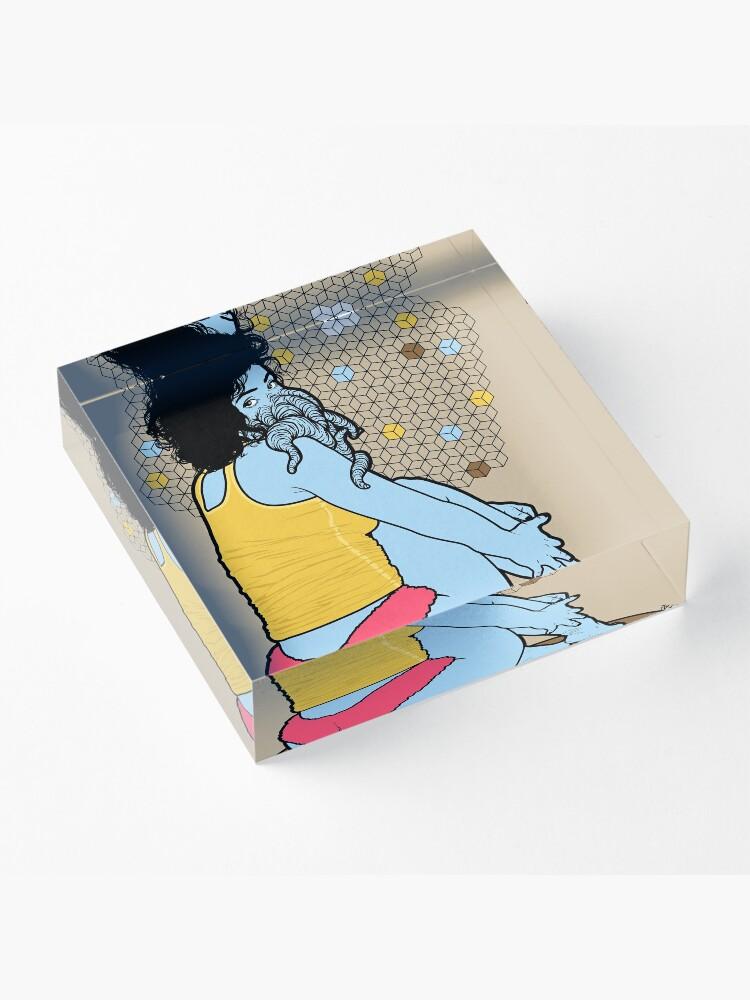 Alternate view of Fluffy Acrylic Block