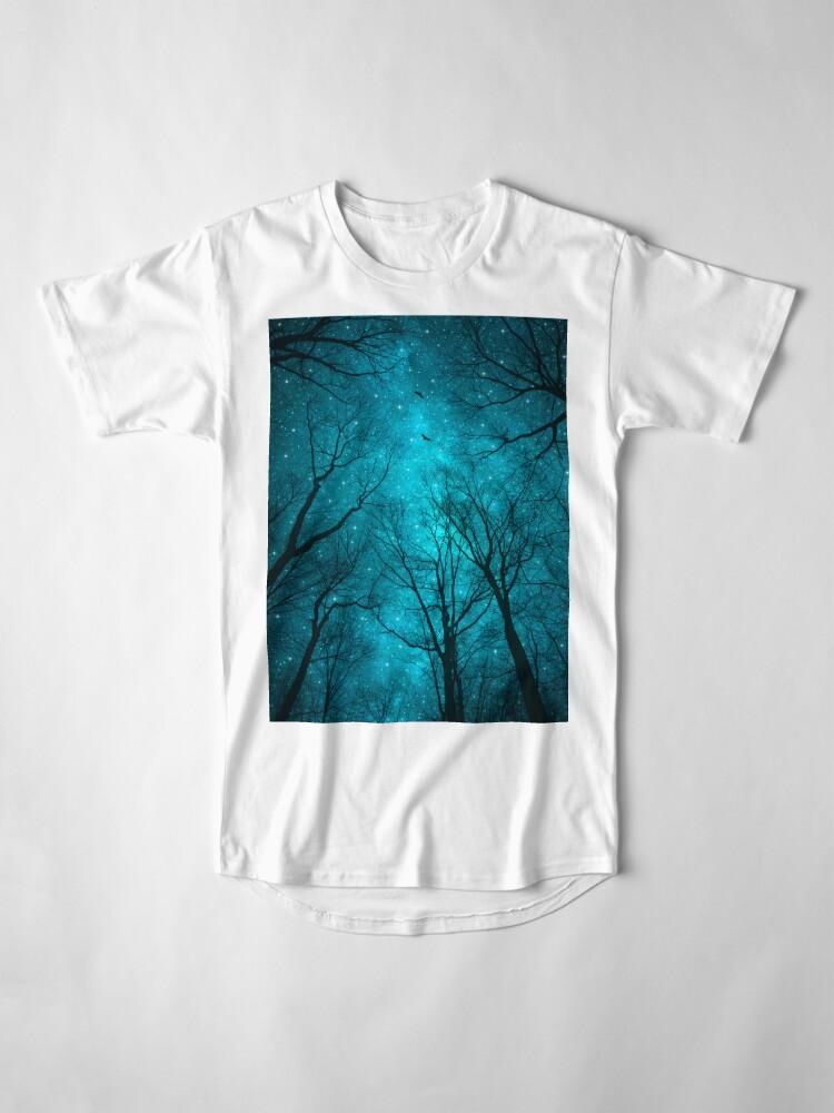 Vista alternativa de Camiseta larga Las estrellas no pueden brillar sin la oscuridad
