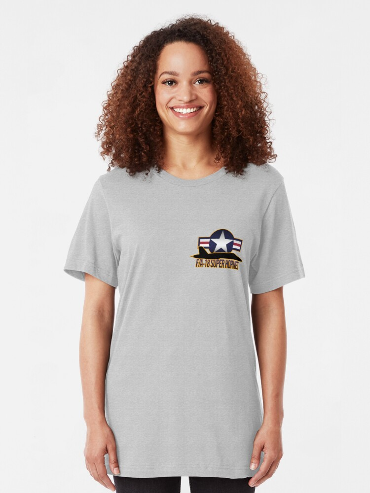 Alternate view of F/A-18 Super Hornet  Slim Fit T-Shirt