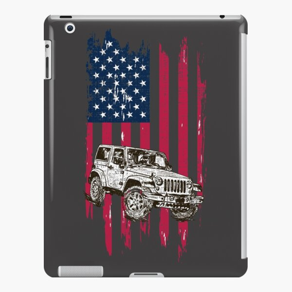 Vintage Off Road 4x4 Driving American Flag iPad Snap Case