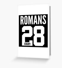 Romans 8:28  Bible Scripture Verse Christian Gift Greeting Card