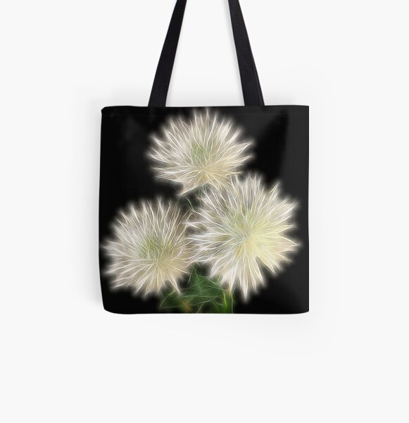 Electric Flowers! All Over Print Tote Bag