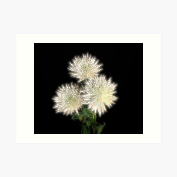 Electric Flowers! Art Print