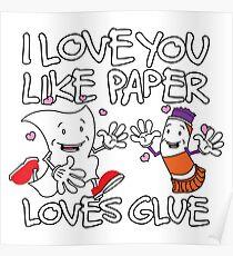 Paper Loves Glue Poster