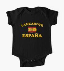 Lanzarote Spain - Espana - Spanish Flag One Piece - Short Sleeve
