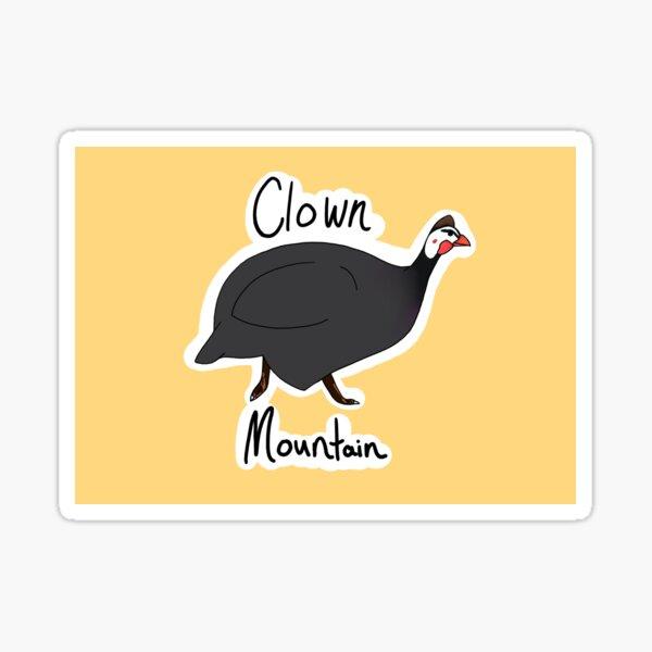 Clown Mountain (Guinea Fowl) Sticker