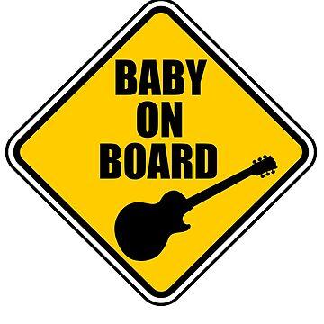 Les Paul Baby On Board! by Joby-F-Randrup