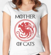 Personalised Cat Shirt Design Women's Fitted Scoop T-Shirt