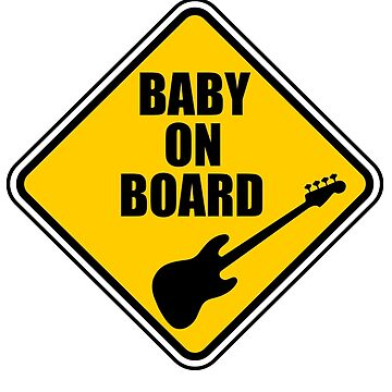 Jazz Bass Baby On Board! by Joby-F-Randrup