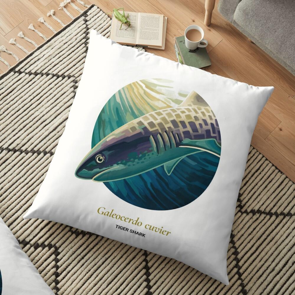 The Circles of Life: Tiger Shark Floor Pillow