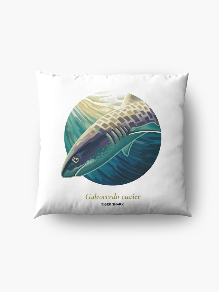 Alternate view of The Circles of Life: Tiger Shark Floor Pillow