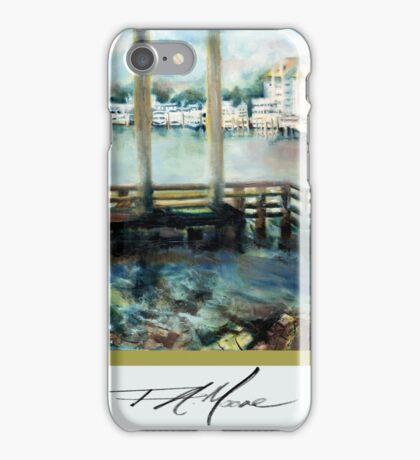 Gone Fishing. FA Moore Signature design, in Cloud White iPhone Case/Skin