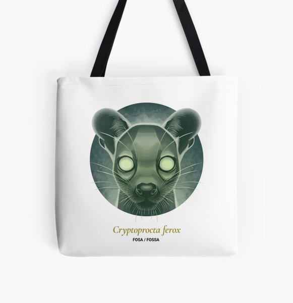 The Circles of Life: Fosa / Fossa All Over Print Tote Bag