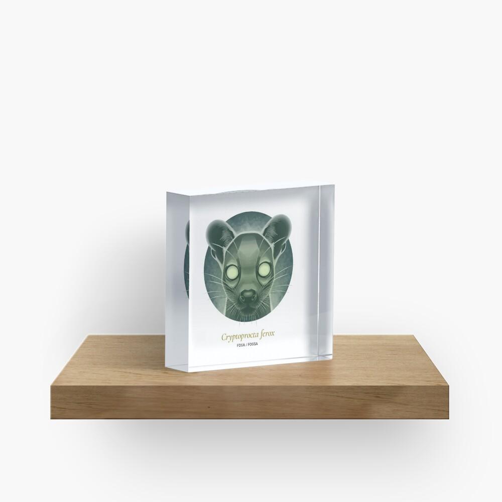 The Circles of Life: Fosa / Fossa Acrylic Block