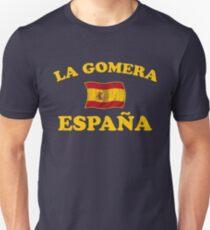 La Gomera Spain - Espana - Spanish Flag Unisex T-Shirt