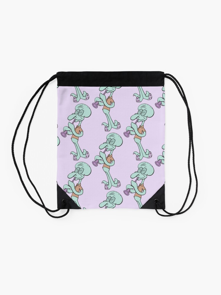 Alternate view of Squidward Drawstring Bag