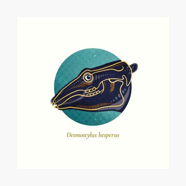 The Circles of Life: Desmostylus hesperus Art Print