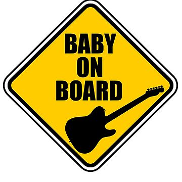 Telecaster Baby On Board! by Joby-F-Randrup