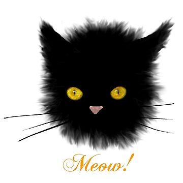 Black Cat - Halloween by CarolineArts