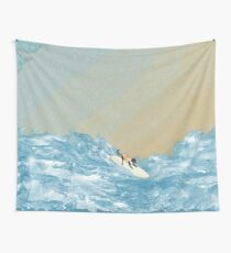 Dog Surf II Wall Tapestry