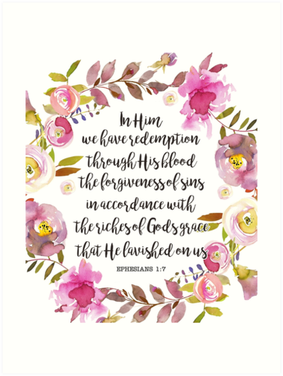 Bible Verse Watercolor Flowers by walk-by-faith