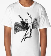 ICARUS THROWS THE HORNS - black ***FAV ICARUS GONE? SEE BELOW*** Long T-Shirt