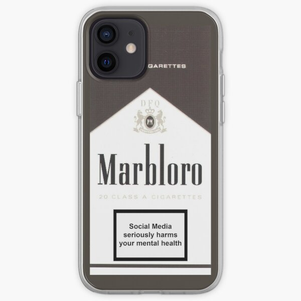 Social Media Kills - Marbloro - Coque souple iPhone