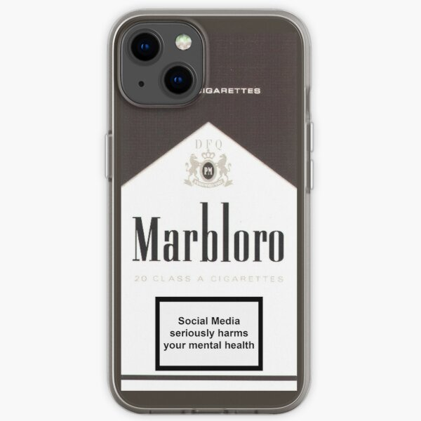 Social Media Kills - Marbloro - iPhone Soft Case