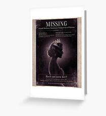 Missing Princess Anastasia Romanov Greeting Card