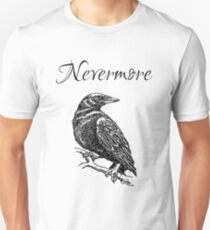 "Edgar Allen Poe - The Raven ""Nevermore"" Slim Fit T-Shirt"
