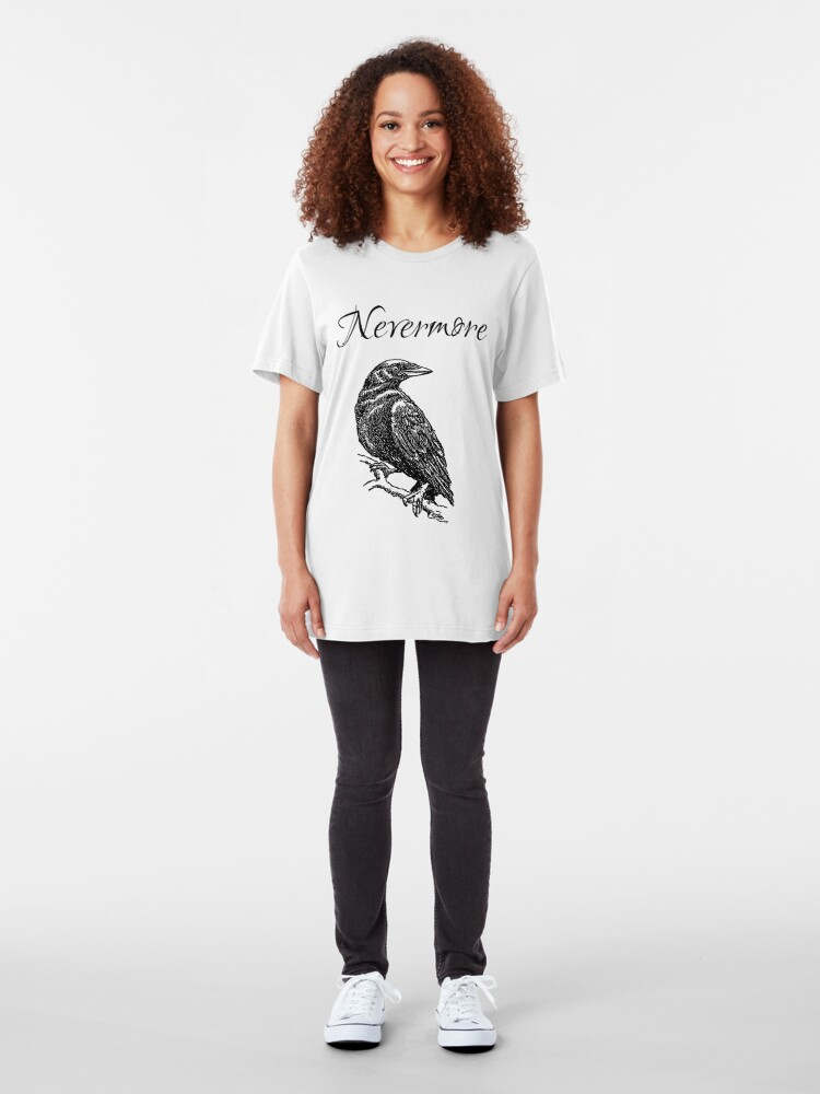 "Alternate view of Edgar Allen Poe - The Raven ""Nevermore"" Slim Fit T-Shirt"