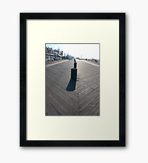 Coney Island Beach and Boardwalk, New York City, #ConeyIslandBeach, #Boardwalk, #NewYorkCity Framed Print
